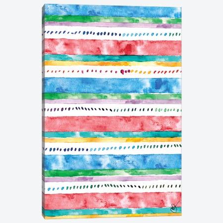 Colorful Bands II Canvas Print #NLA20} by Nola James Canvas Print