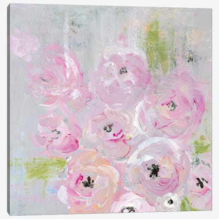 Field of Roses Canvas Print #NLA24} by Nola James Canvas Wall Art