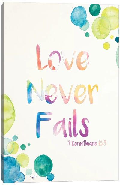 Love Never Fails Canvas Art Print