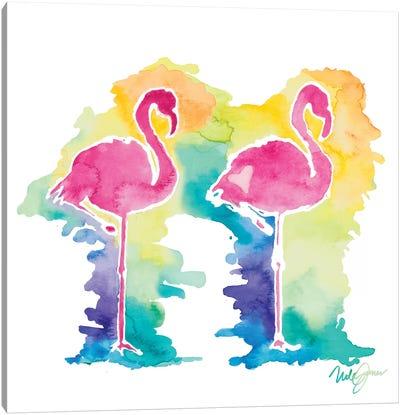 Sunset Flamingo Square I Canvas Art Print