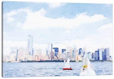 Watercolor NYC Skyline II Canvas Art Print