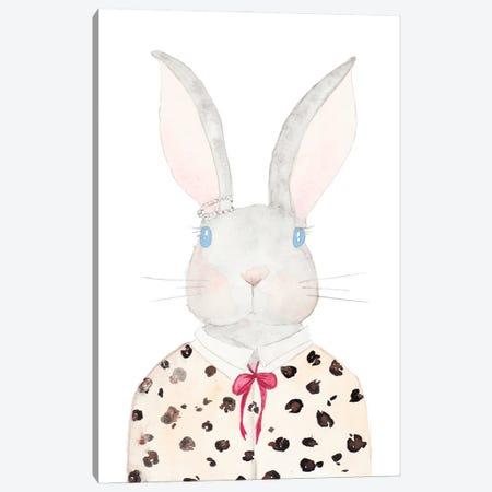 Sweater Rabbit Canvas Print #NLA44} by Nola James Canvas Artwork