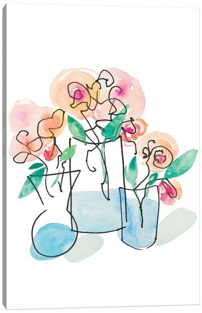 Trois Vases Canvas Art Print