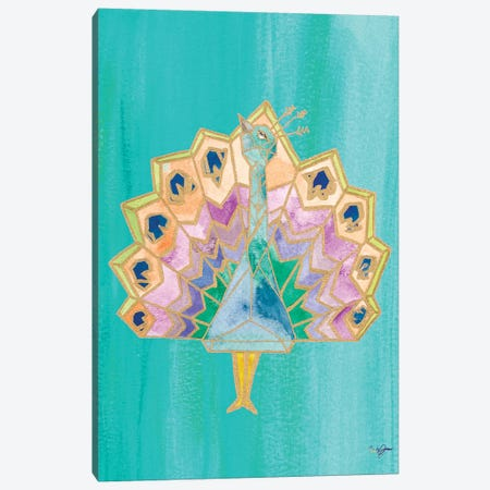 Bright Origami IV Canvas Print #NLA4} by Nola James Canvas Wall Art