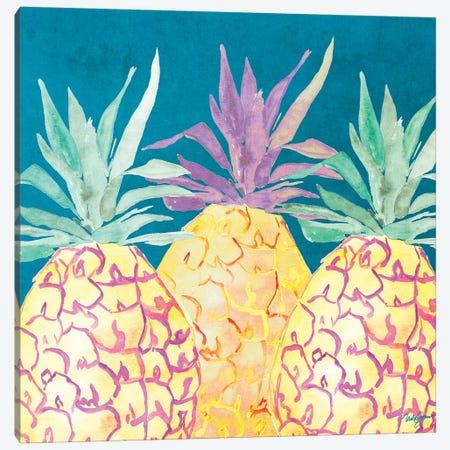 Havana Pineapple Canvas Print #NLA8} by Nola James Art Print