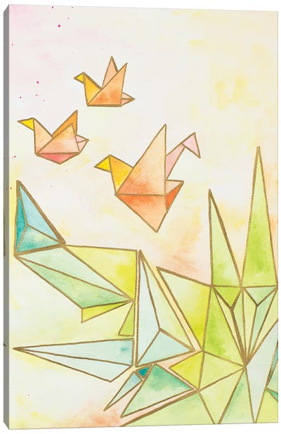 Origami Cranes Canvas Art Print