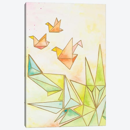Origami Cranes Canvas Print #NLA9} by Nola James Canvas Art Print