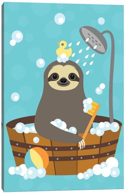 Bathing Sloth Canvas Art Print