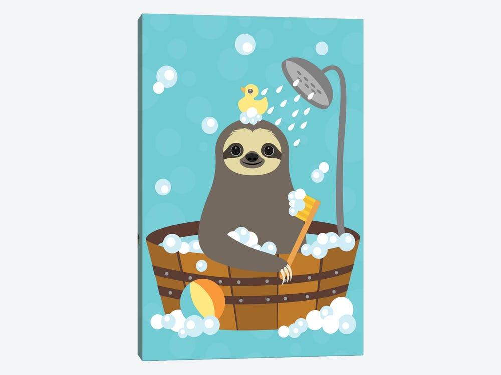 Bathing Sloth by Nancy Lee 1-piece Canvas Print