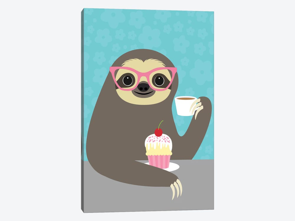 Diva Sloth by Nancy Lee 1-piece Canvas Print