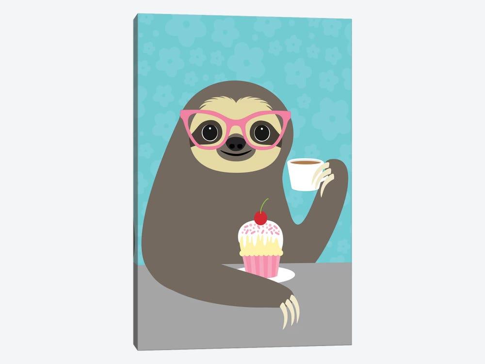 Diva Sloth by Nancy Lee 1-piece Canvas Print