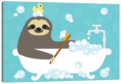 Scrubbing Bubbles Sloth Canvas Art Print