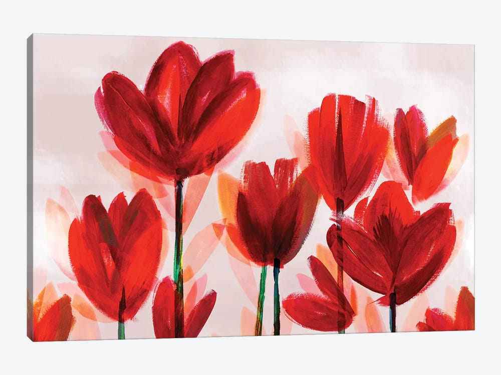 Contemporary Poppies Red by Northern Lights 1-piece Art Print