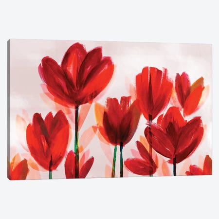 Contemporary Poppies Red Canvas Print #NLI12} by Northern Lights Canvas Wall Art