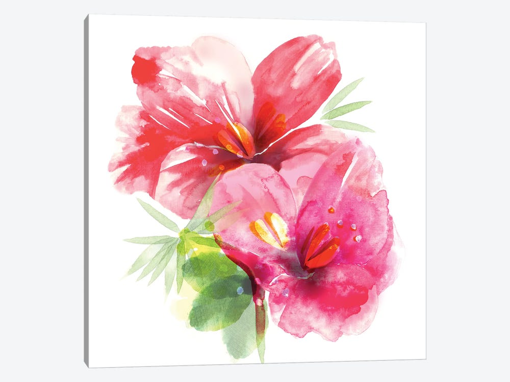 Floral Beauty II 1-piece Canvas Art