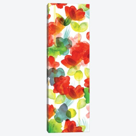 Tropical Floral Panel I Canvas Print #NLI19} by Northern Lights Canvas Artwork