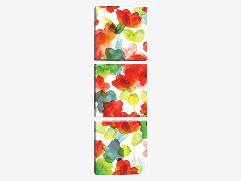 Tropical Floral Panel I by Northern Lights 3-piece Canvas Artwork