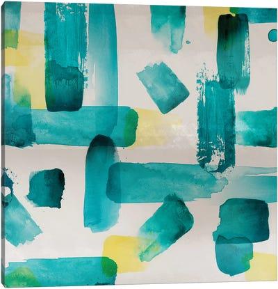 Aqua Abstract Square I Canvas Art Print