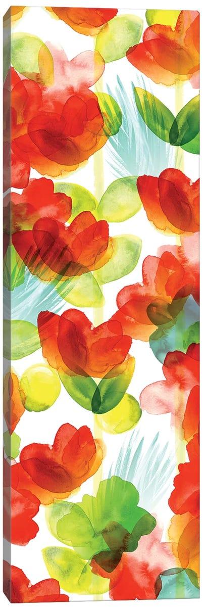 Tropical Floral Panel II Canvas Art Print