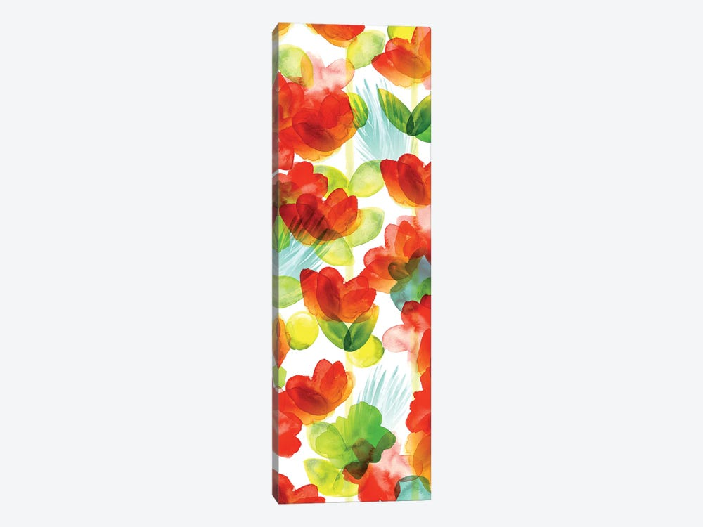 Tropical Floral Panel II by Northern Lights 1-piece Canvas Wall Art