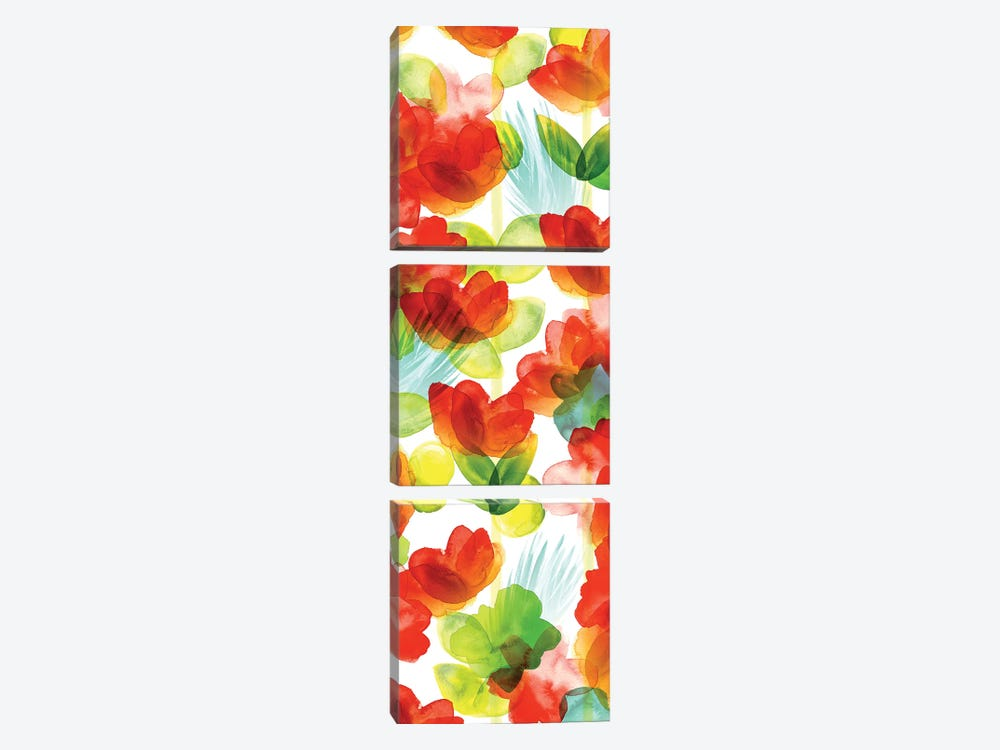 Tropical Floral Panel II by Northern Lights 3-piece Canvas Artwork