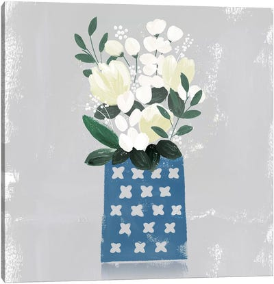 Contemporary Flower Jar III Canvas Art Print
