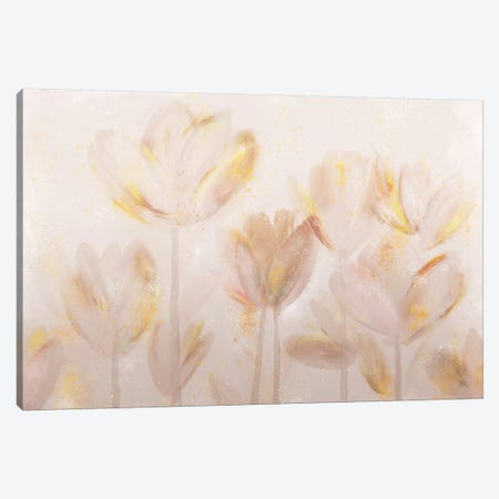 Contemporary Poppies Neutral Canvas Print #NLI25} by Northern Lights Canvas Artwork