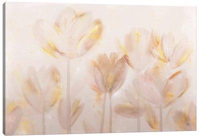 Contemporary Poppies Neutral Canvas Art Print