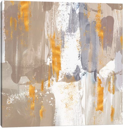 Icescape Abstract Grey Gold III Canvas Art Print