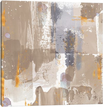 Icescape Abstract Grey Gold IV Canvas Art Print