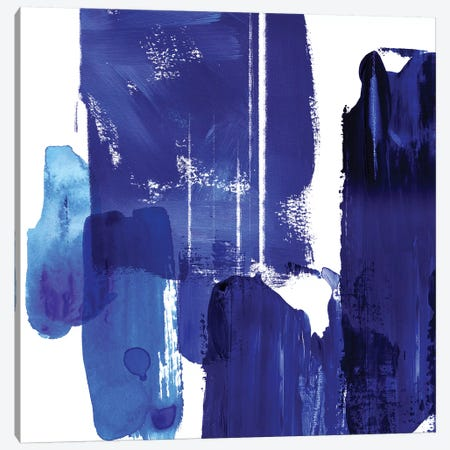 Indigo Abstract I Canvas Print #NLI30} by Northern Lights Canvas Art