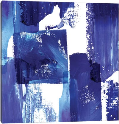 Indigo Abstract II Canvas Art Print