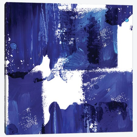 Indigo Abstract IV Canvas Print #NLI33} by Northern Lights Canvas Art