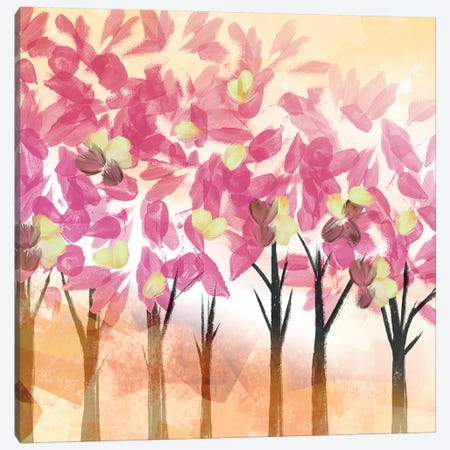 Pink Trees Canvas Print #NLI34} by Northern Lights Art Print