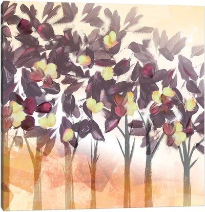 Pink Trees Dark Canvas Art Print