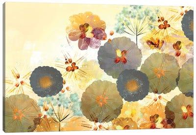 Textured Hedgerow Rust Landscape Canvas Art Print
