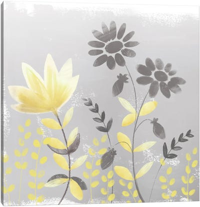 Soft Nature Yellow & Grey I Canvas Art Print