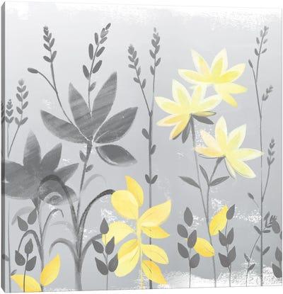 Soft Nature Yellow & Grey II Canvas Art Print
