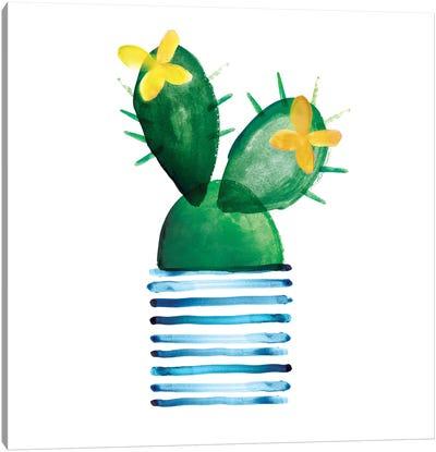 Colorful Cactus I Canvas Art Print
