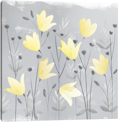 Soft Nature Yellow & Grey III Canvas Art Print