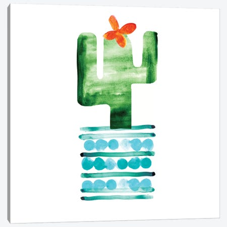 Colorful Cactus II Canvas Print #NLI4} by Northern Lights Canvas Wall Art