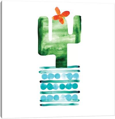 Colorful Cactus II Canvas Art Print