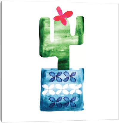 Colorful Cactus VI Canvas Art Print