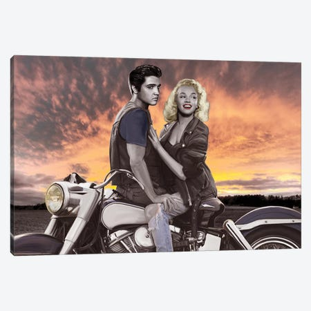 Sunset Ride Canvas Print #NLS1} by Josh Nelson Canvas Artwork
