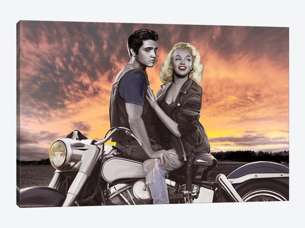 Sunset Ride by Josh Nelson 1-piece Canvas Wall Art