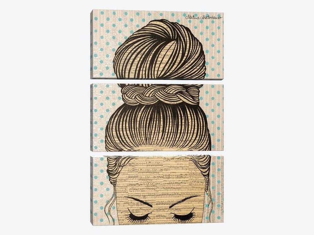 Queen Of Peace by Martina Niederhauser-Landtwing 3-piece Canvas Art Print