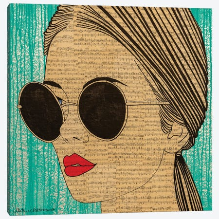 Shine Bright Canvas Print #NLT15} by Martina Niederhauser-Landtwing Canvas Wall Art