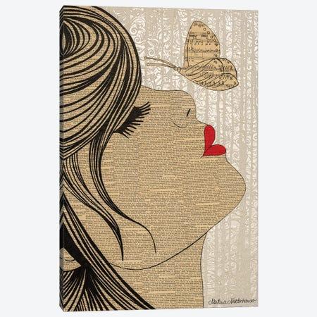 Fly Canvas Print #NLT19} by Martina Niederhauser-Landtwing Art Print