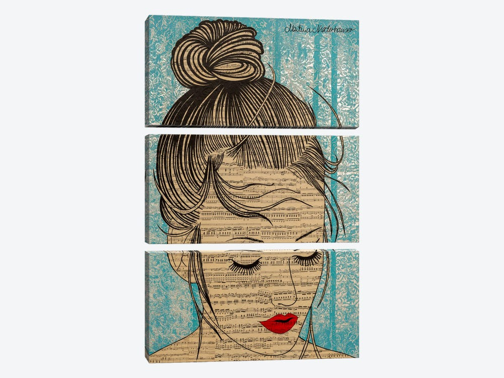 Soulsister by Martina Niederhauser-Landtwing 3-piece Canvas Print