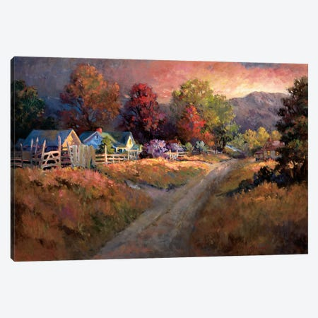 Rural Vista I Canvas Print #NLU1} by Nancy Lund Canvas Artwork